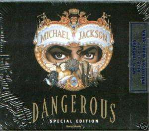 MICHAEL JACKSON DANGEROUS SPECIAL EDITION CD BLACK SLIP