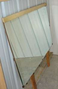 Antique Large Beveled Dresser Mirror Wood Frame 42x29.5