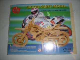 WOOD CRAFT MODEL CROSS COUNTRY MOTORCYCLE CX501 NEW