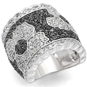 Size 10 Clear Cubic Zirconia Brass Ring AM Jewelry