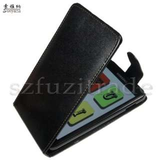 Black Filp Leather Case Cover Skin Pouch For Samsung i9220 Galaxy Note