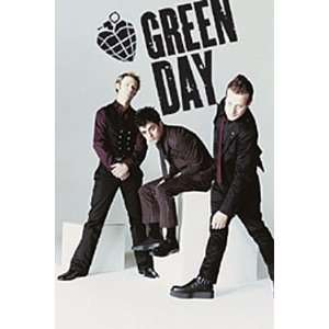 GREEN DAY GROUP   GREEN DAY AMERICAN IDIOT POSTER WHITE