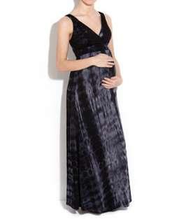 Black Pattern (Black) Maternity Tie Dye Maxi Dress  246701709  New