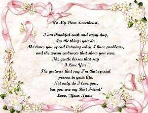Personalized Poem Breast Cancer Pink Ribbon With Frame