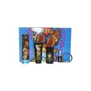 Ed Hardy by Christian Audigier for Men   5 Pc Gift Set 3.4oz EDT Spray