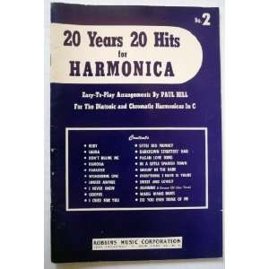 20 Years 20 Hits for Harmonica No. 2  Easy to play