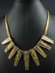 Ethnic India Style Fashion Gold Tone Pendant Necklace Chains MS2090