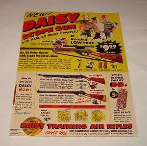 1959 Daisy SCOPE GUN bb gun air rifle ad