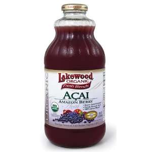 Lakewood Organic Acai  Berry   Package contains SIX 32oz