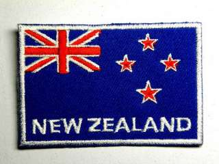 NEW ZEALAND KIWI FLAG of IRON ON PATCH EMBROIDERED I016