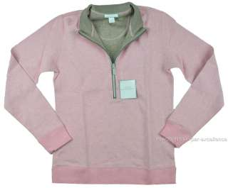 NEW womens LADY HATHAWAY Zip REVERSIBLE Pullover SWEATER sweat shirt