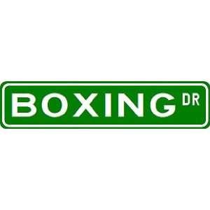 BOXING Street Sign ~ Custom Street Sign   Aluminum Sports