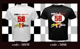 CIAO MARCO SIMONCELLI SUPER SIC #58 custom White T Shirt S 3XL Unisex