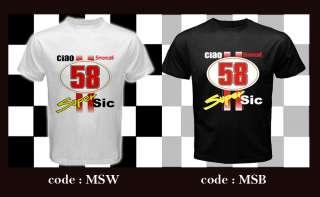 CIAO MARCO SIMONCELLI SUPER SIC #58 custom White T Shirt S 3XL Unisex