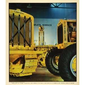 1938 Print Caterpillar Tractor Machine Peoria Illinois Display