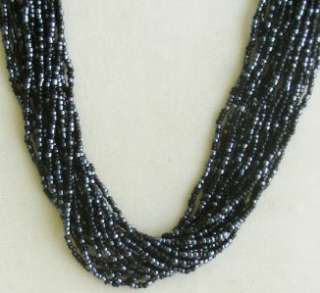 PREMIER DESIGNS MULTI STRAND SEED BEAD NECKLACE NEW