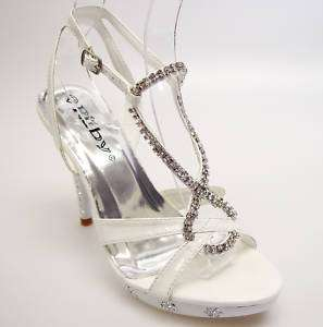 Luxury White Rhinestone Wedding Prom Party Shoes