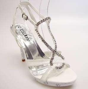 Luxury White Rhinestone Wedding Prom Party Shoes