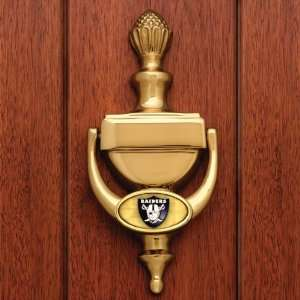 OAKLAND RAIDERS Team Logo Welcome To Our Home Solid BRASS DOOR