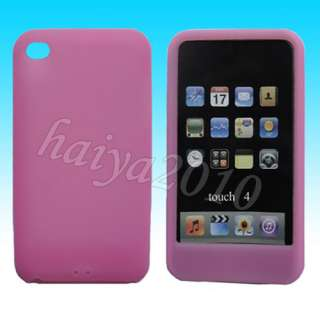 of 11 colors silicone case cover skin for apple ipod touch 4 4th gen