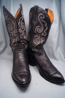 Chisholm Black Leather 11.5 D Mens Western Boots