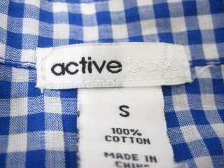 LOT 2 MILLAU ACTIVE Blue Check Shirt Sweater Vest Sz S