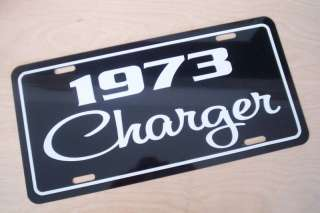 1973 Dodge Charger license plate tag 73 sign mopar