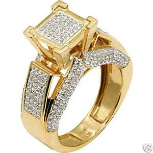 NEW Diamond Pave Gold Ladies Engagement Ring