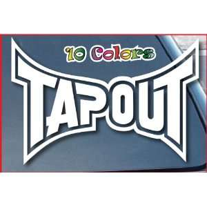 Tapout Logo Car Window Decal Sticker 9 Wide White