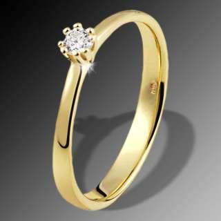 goldmaid Solitär Verlobungsring Gelbgold 1 Brillant SI
