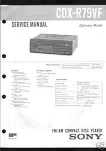 Sony Original Service Manual für CDX   R 79 VF