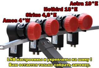 Teilnehmer Sat Anlage MAXIMUM E 85 T85 Multifeed HDTV