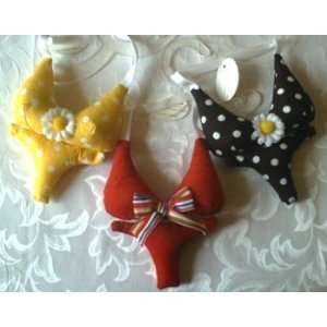 Bikini Sachet   Yellow Polka Dots  Home & Kitchen