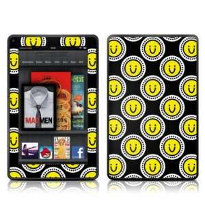 Happy Face Design Protective Decal Skin Sticker for  Kindle Fire