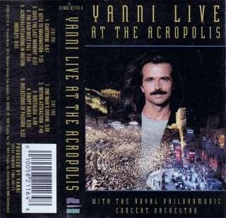 Yanni Live at the Acropolis Yanni (Cassette 1995, Private