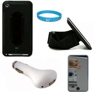 Black Rubberized Protective Silicone Skin Cover Case with