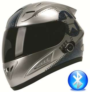 TORC Blinc Bluetooth Full Face Motorcycle Helmet DOT T10B Flight