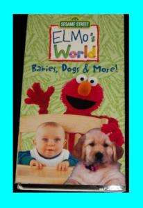 Elmos world babies , dogs & more  vhs 074645172132