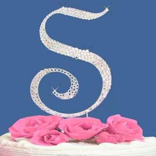 LETTER B   CRYSTALIZED WEDDING CAKE TOPPER MONOGRAM