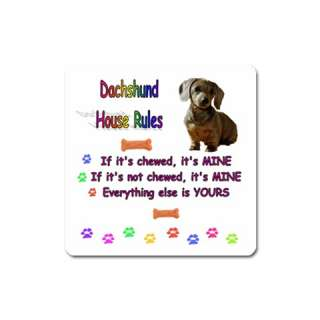 DACHSHUND DOG PUPPY UNIQUE FUNNY COMIC COMICAL SLOGAN PICTURE FRIDGE