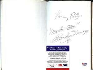WWF RANDY SAVAGE MACHO MAN SIGNED VINTAGE BOOK PSA/DNA