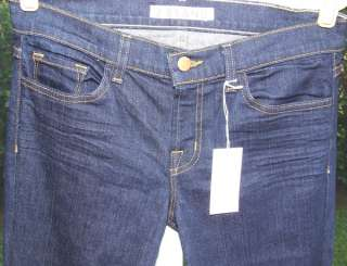 for summer or fall. A pair of J BRAND DENIM JEANS Dark Blue jeans