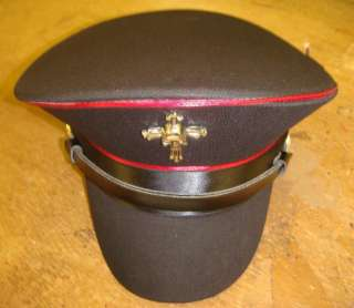 SDL Steam Punk military hat with red trim skull/cross