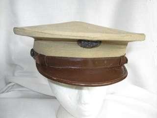 US Army Air Corps Hat Tan w/Leather Trim, VFW, PA Am Legion +++