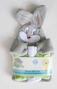 LOONEY TUNES BABY BUGS BUNNY DELUXE BATH SET   NEW