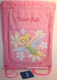 Disney TINKERBELL PINK Drawstring Backpack BAG NEW A