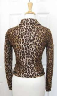 DOLCE & GABBANA Leopard Print Jacket Coat 40 XS/S