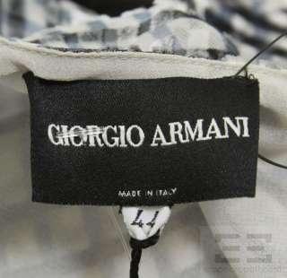Giorgio Armani Black Label 2pc Grey Blue Velvet Halter Top Pants Suit