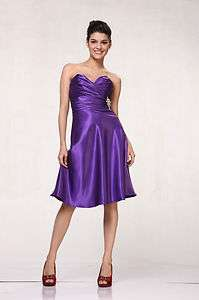 NEW SHORT FORMAL CLASSIC PROM BRIDESMAIDS DRESSES PLUS SIZE SIMPLE