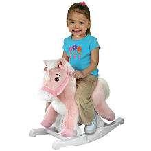 Rockin Rider Animated Plush Rocking Horse   Talking Pink Pony   Tek
